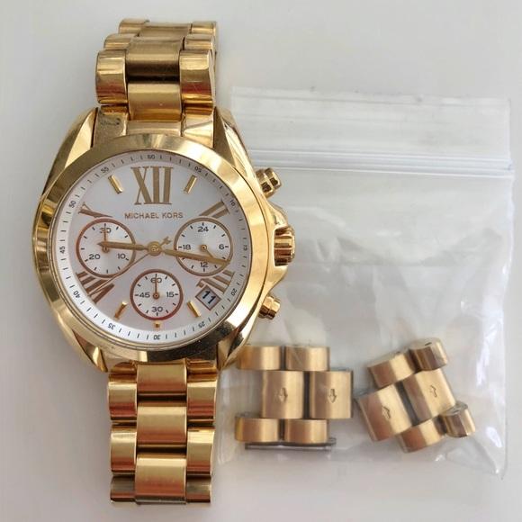 356c249ad8d2 Michael Kors Oversize Bradshaw Gold-Tone Watch. M 5b6070ae2e14786d0cdbd7fa